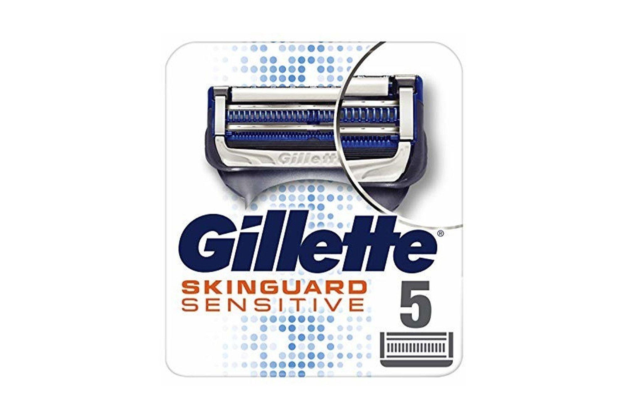 5x Original replacement blades Gillette Skinguard Sensitive