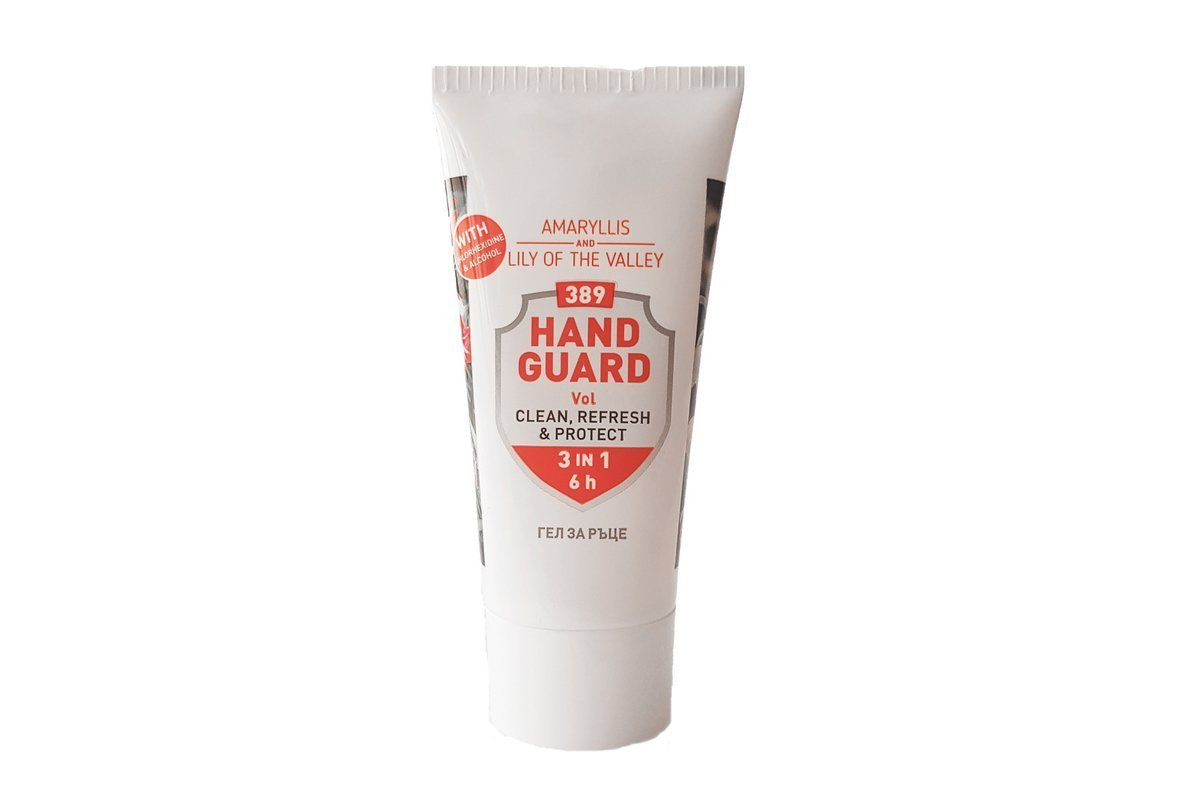 Antibacterial Hand Sanitiser Gel 389 Hand Guard 50 ml (Amaryllis and Lily of the valley)