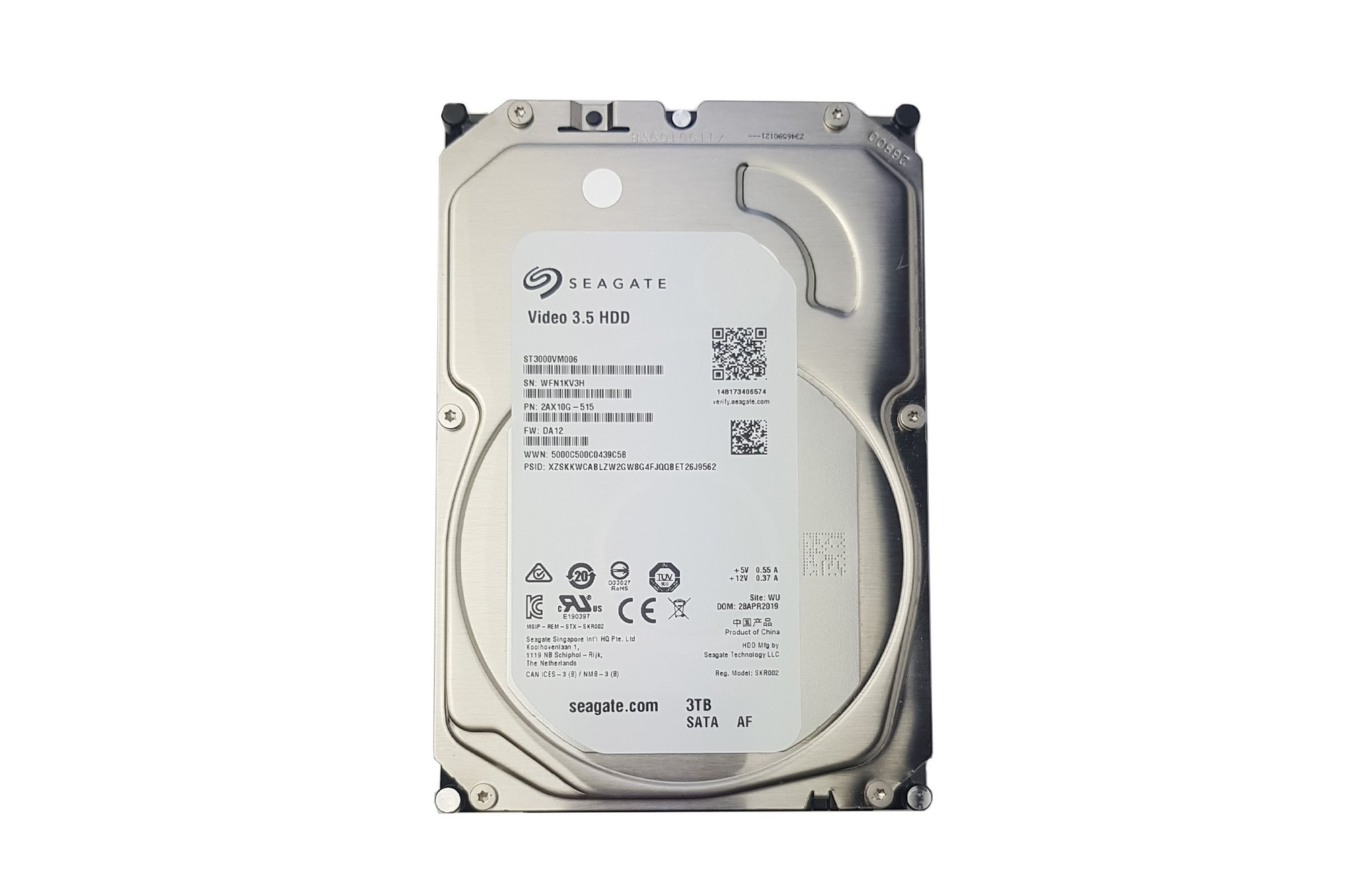 "Seagate Video 3.5 3TB ST3000VM006 Sata3 5.4K 64MB 3.5"" HDD DVR"