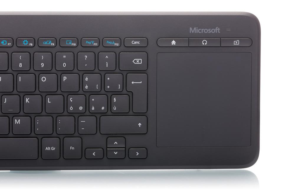 Microsoft All-in-One Media Keyboard (Italian) N9Z-00013 Trackpad
