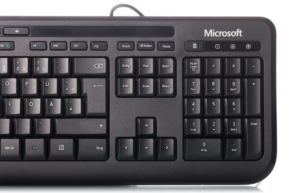 Microsoft Wired Keyboard 600 Black (German / Deutsch)