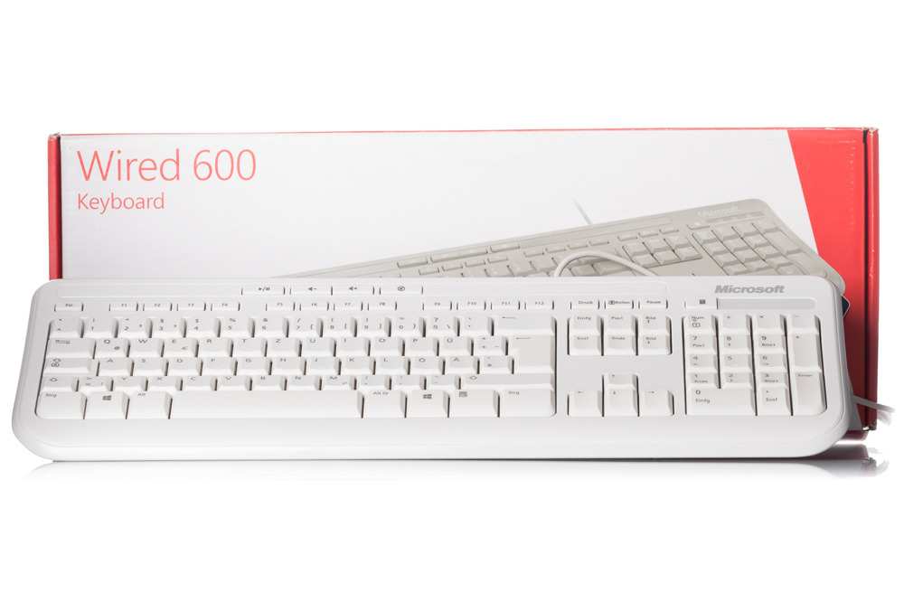 Microsoft Wired Keyboard 600 White (German)