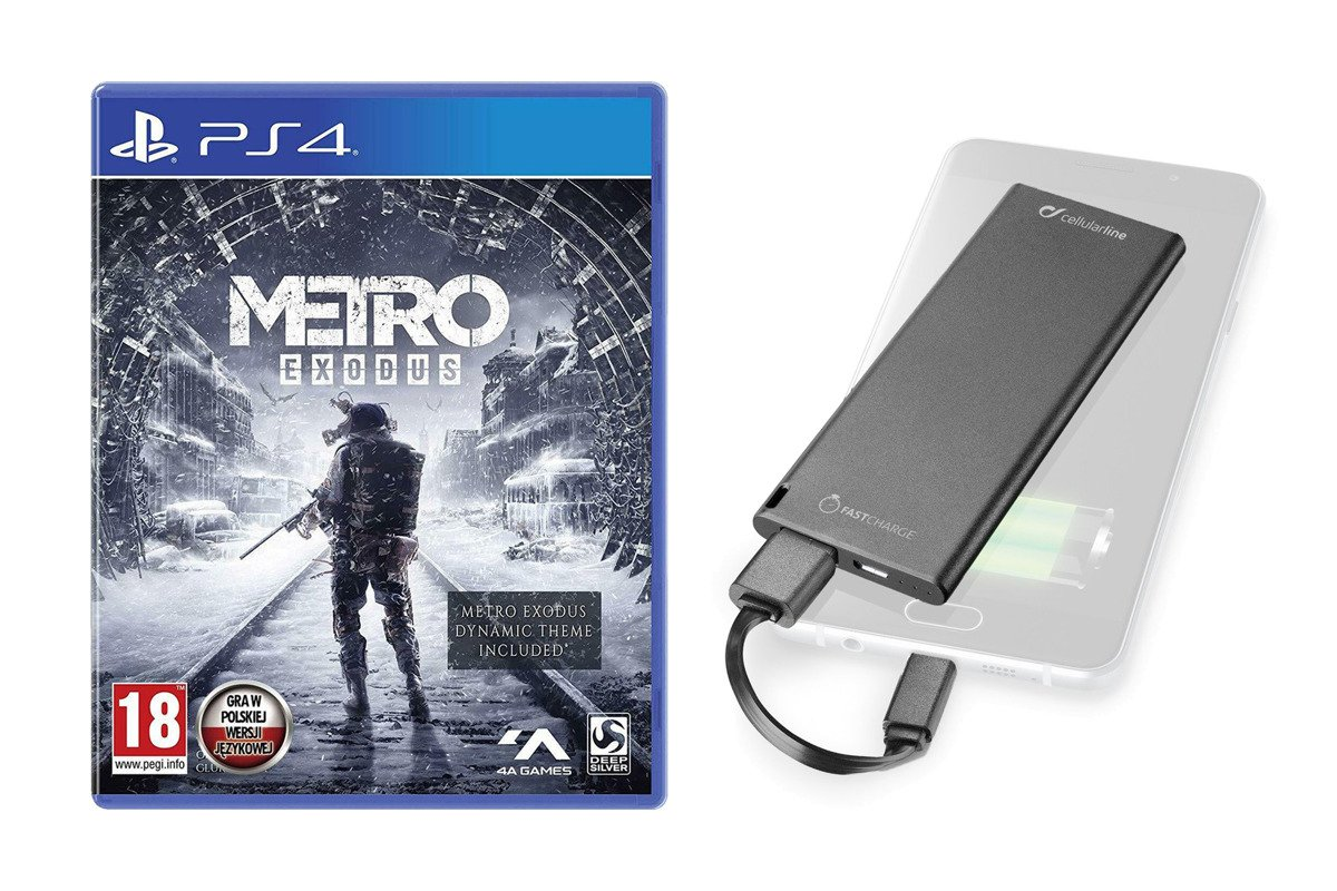 Metro Exodus Day One PS4 Pudełkowa PL + Powerbank