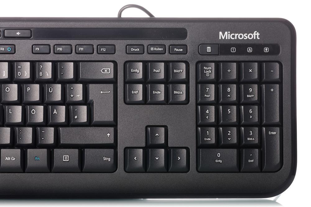 Klawiatura Microsoft Wired 600 czarna (Niemiecka)