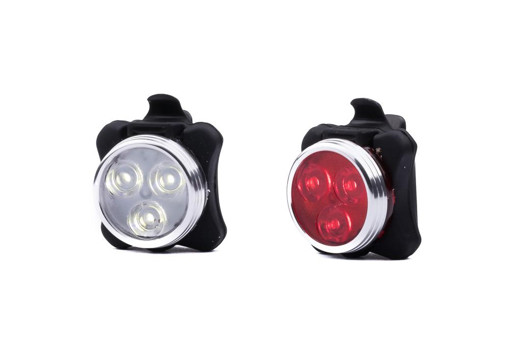 Lampki rowerowe PAGAO LED przód i tył ładowane przez USB