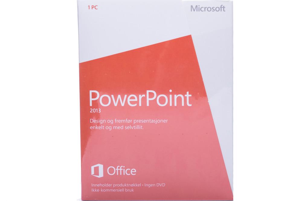 PowerPoint 2013 32bit/X64 Norwegian Medialess Non-commercial