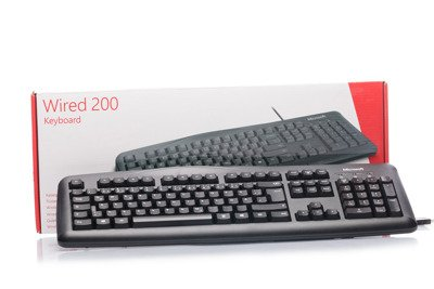 Klawiatura Microsoft Wired 200 (Niemiecka)
